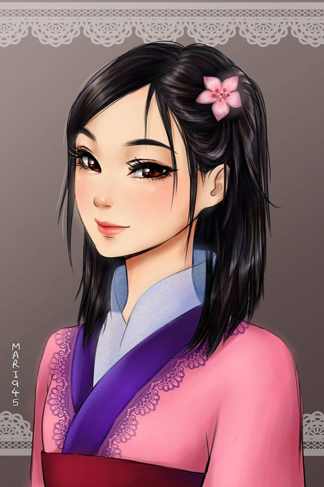 These anime inspired Disney princesses are stunning!