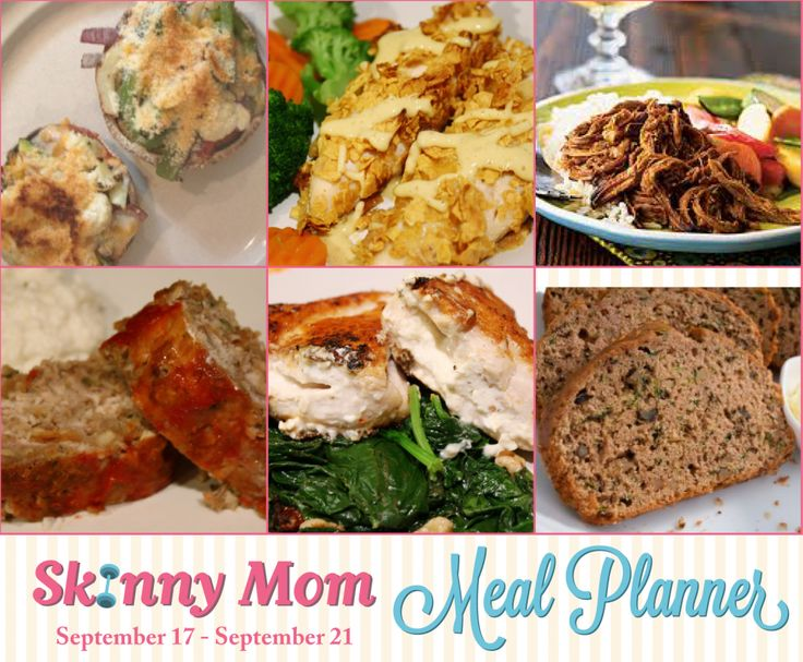 Skinny Mom Menu: 9/17-9/21