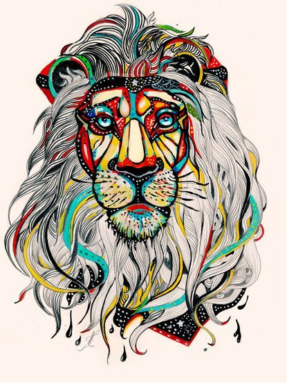 SO DOPE especially if this was in black and white. Great lion tattoo idea