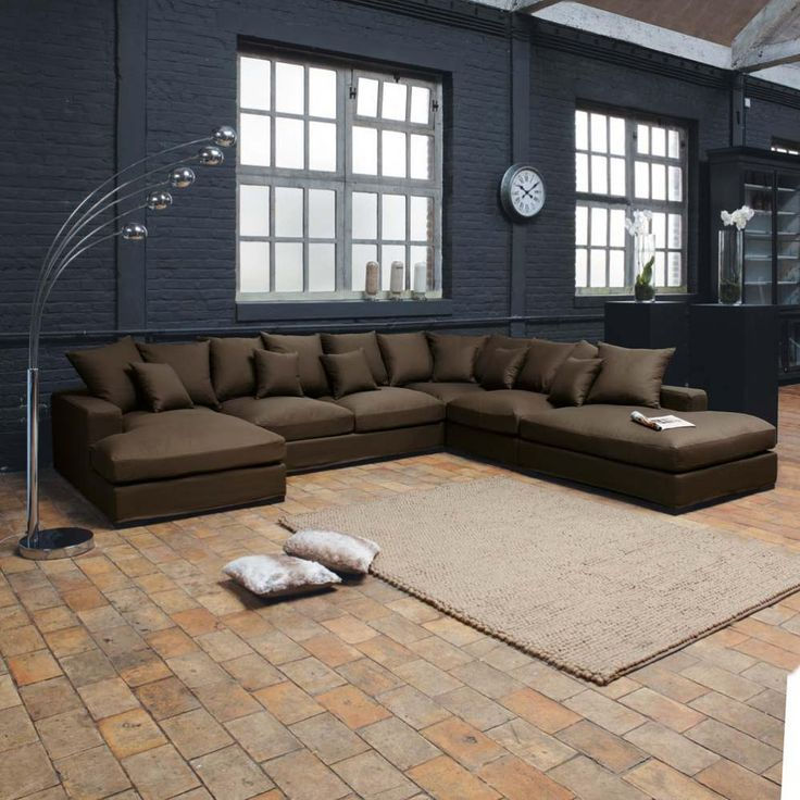 les 25 meilleures id es concernant sofa chocolat brun sur. Black Bedroom Furniture Sets. Home Design Ideas