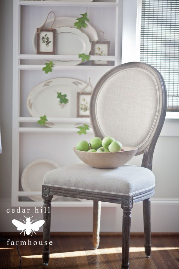 Fall Home Tour via Cedar Hill Farmhouse featuring Cost Plus World Market's Linen Paige Round Back Dining Chair >> #WorldMarket Living Room Decor, Home Decor, Tips