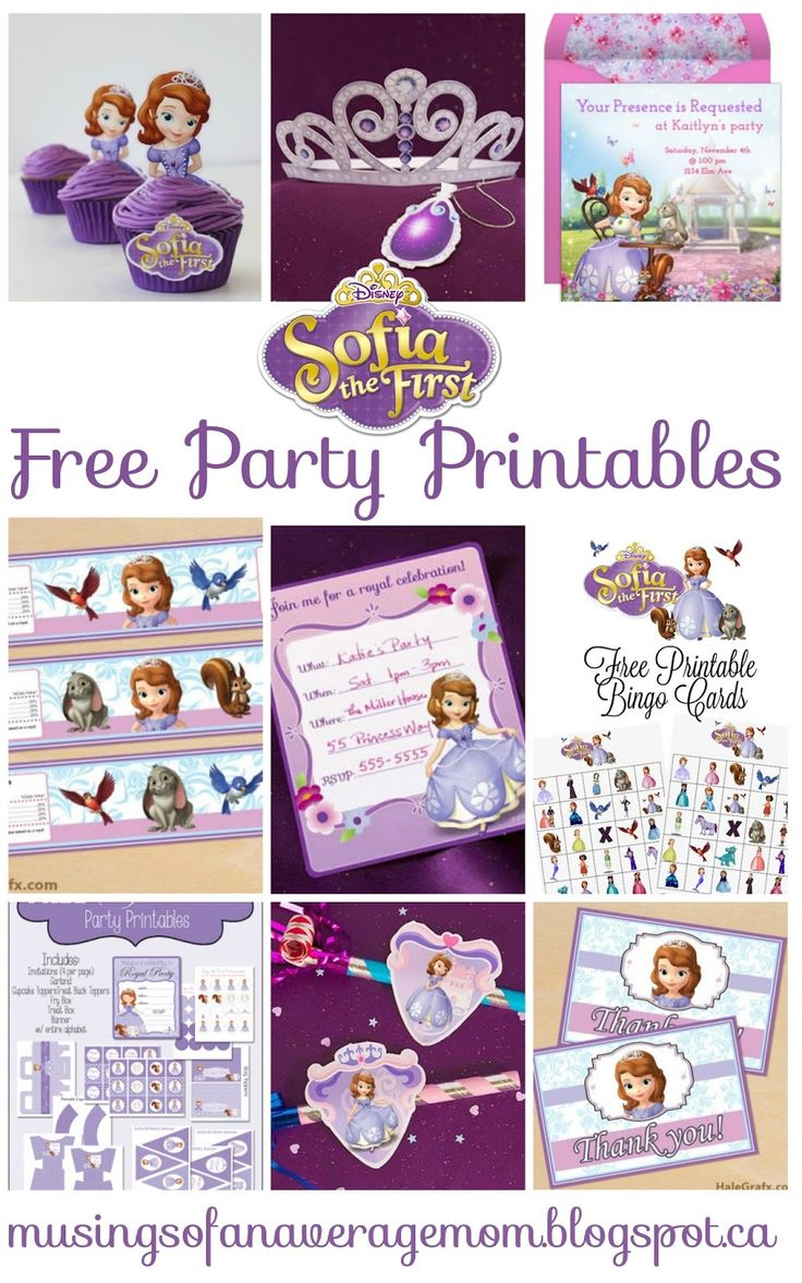 Musings of an Average Mom: Sophia the First - Party Printables The Ultimate Pinterest Party, Week 95