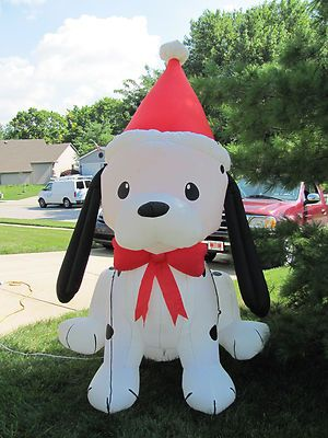 6 Dalmatian Puppy Air Blown Inflatable Xmas Light Outdoor