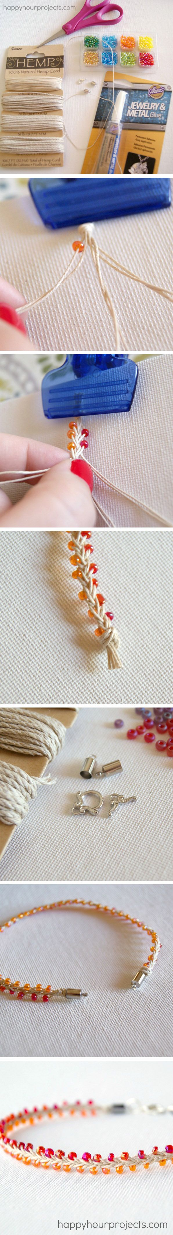 Tressage avec perles