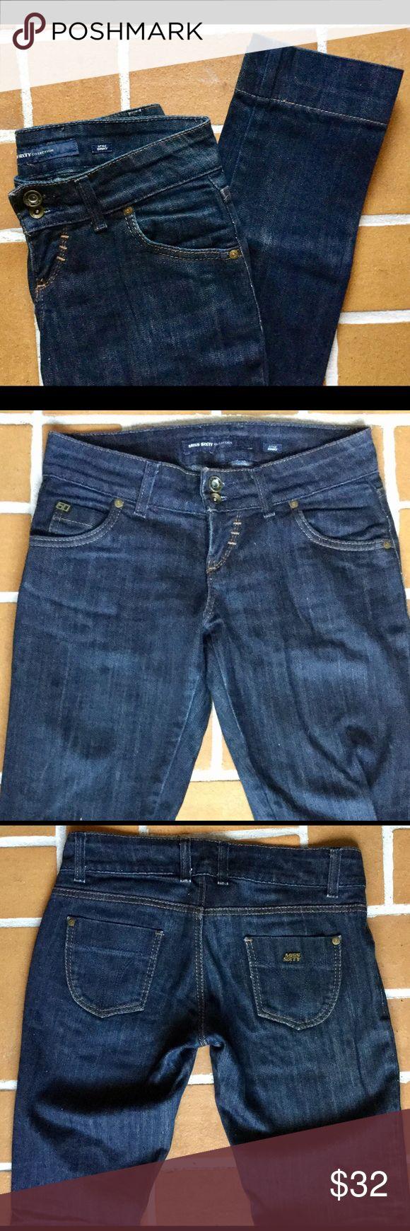 Miss Sixty denim Miss Sixty jeans, dark raw denim look Famous Binky style size 26x30 Miss Sixty Jeans Straight Leg