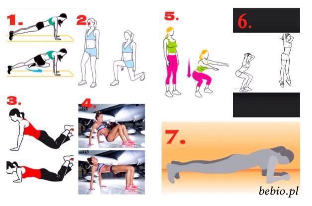 Jutro wykonaj ten cały zestaw 5 x !! Nic wiecej nie chce Udostepnij i nie zgub  Kazde ćwiczenie 15-20 powtórzeń, jesli to konieczne, na każda stronę Plank / deska - ćwiczenie nr 7 - policz powoli do trzydziestu
