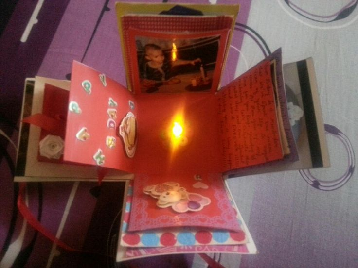 explosion birthday card for him