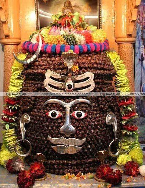 உஜ்ஜயினி மகாகாலேஸ்வரர். ருத்ராட்ச அலங்காரம்!