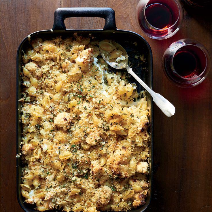 Get star chef Ina Garten's Crusty Baked Shells & Cauliflower recipe from Food & Wine.