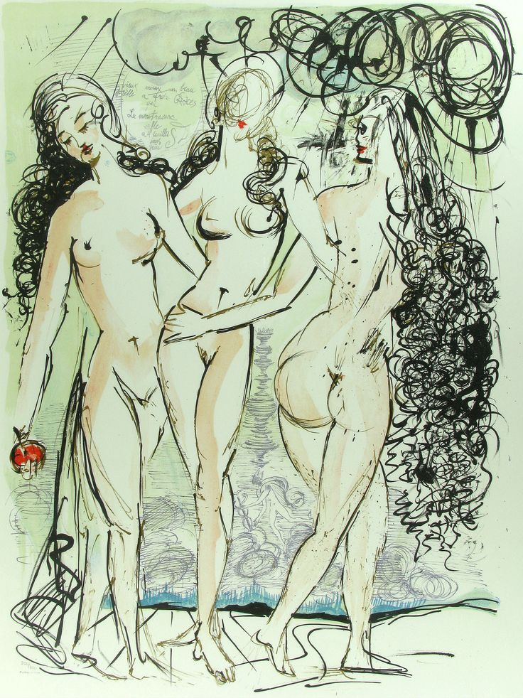 Salvador Dali, The Three Graces, Lithograph on Paper, Limited Edition