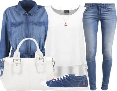 Un look de rentrée total jeans ! Shoppez le ici http//stylefru