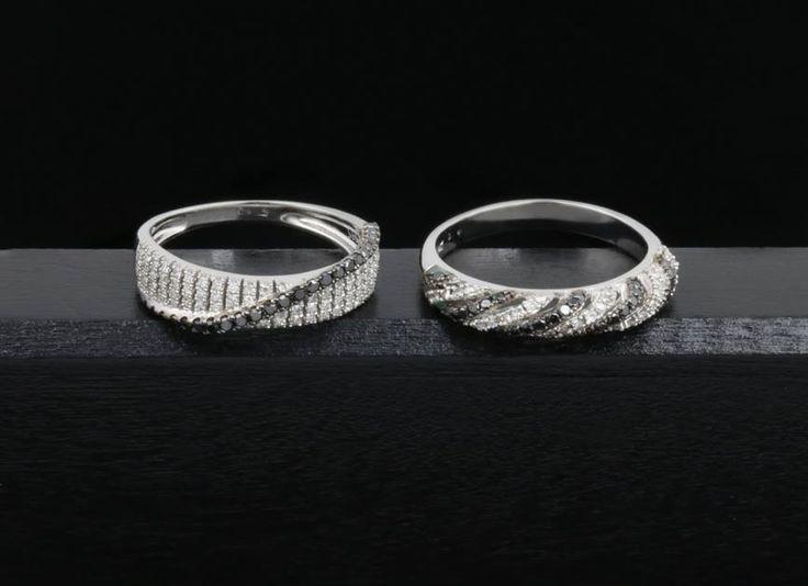 Prsteny, na nichž je zkombinována krása bílých i černých diamantů. #klenotacz #klenota #zlatnictvipraha #sperkarstvipraha #klenotnictvipraha #sperky #jewellery #jewelry #jewelrymaking #jewelrydesign #klenoty #zlato #zlate #gold #golden #goldjewellery #goldjewelry #bilezlato #whitegold #diamantes #whitediamond  #blackdiamond #diamant #diamond #diamondjewelry #zasnuby #zasnubni #zasnubniprsten #engagement #engagementring #prsten #prstynek #ring #diamondrings
