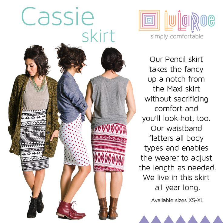 """LuLaRoe Cassie skirt.  This is our classic pencil skirt.  Dress it up or down.  There are so many wonderful patterns to choose from. To get one today, go to http://lularoe.com/shop and enter """"STEFANIMCCUNE"""" for free shipping."""