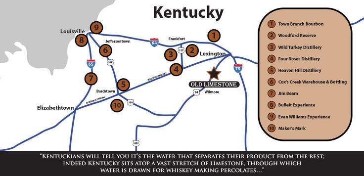 24 best images about whiskey bourbon scotch on for Ky bourbon trail craft tour map