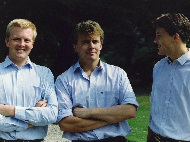 3 broers: Prinsen Willem-Alexander, Johan-Friso en Constantijn