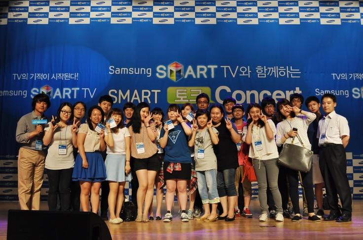 2012/06/08 [삼성스마트TV와 함께하는 스마트토크콘서트] 기자단 단체 인증샷!