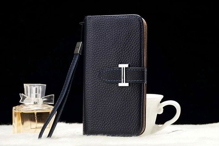 Leather hermes Galaxy Note 5 Edge Wallet Case Blue