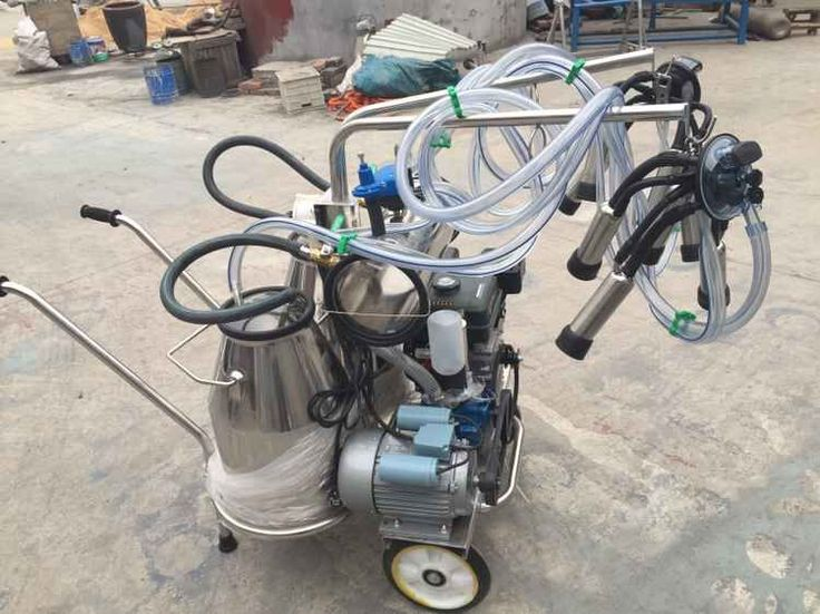 New design---Gasoline and electric vacuum double milking machine