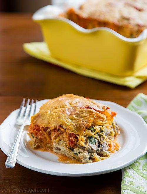 Spaghetti Squash Pesto Lasagna, for a different kind of Thanksgiving main dish #glutenfree