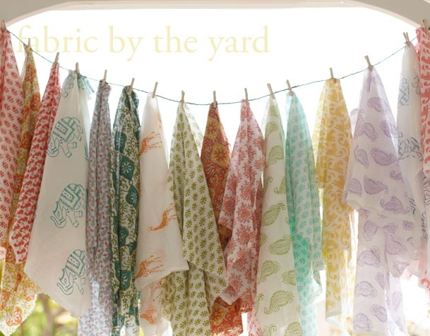 hand block printed textiles