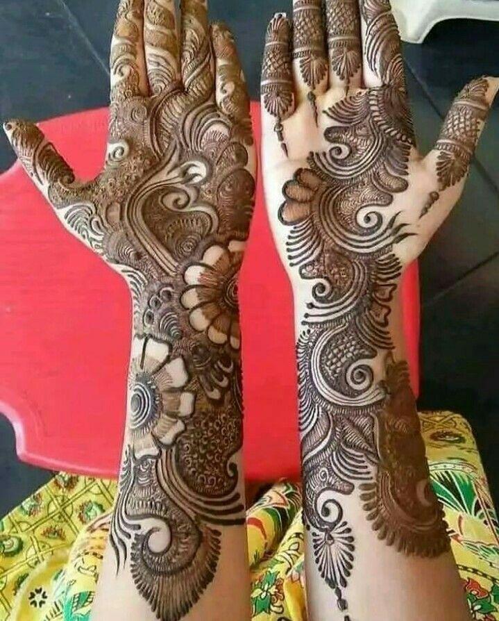 full hand mehndi design dulhan