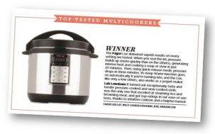 Good Housekeeping Mag Adds Multi Cooker Reviews -Fagor Wins Big!