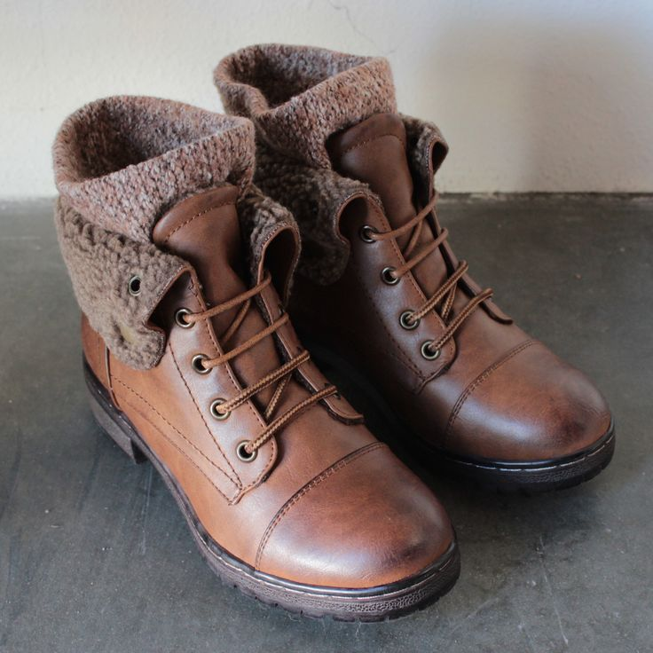 Adorable cozy boots sock detailing adorns these leather booties. Featuring a laced up front. Comfy and stylish for this upcoming fall's weather - Super high quality synthetic leather - European sizing