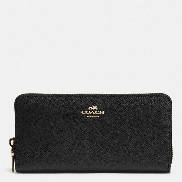Coach Accordion Zip Wallet ($225) ❤ liked on Polyvore featuring bags, wallets, black, credit card holder wallet, coach wallet, galaxy wallet, zip wallet and black zipper wallet