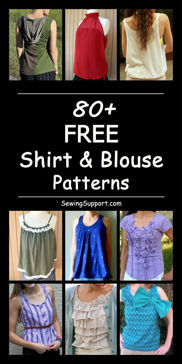 Over 80 Free Sewing Patterns Diy Projects And Tutorials For Tops