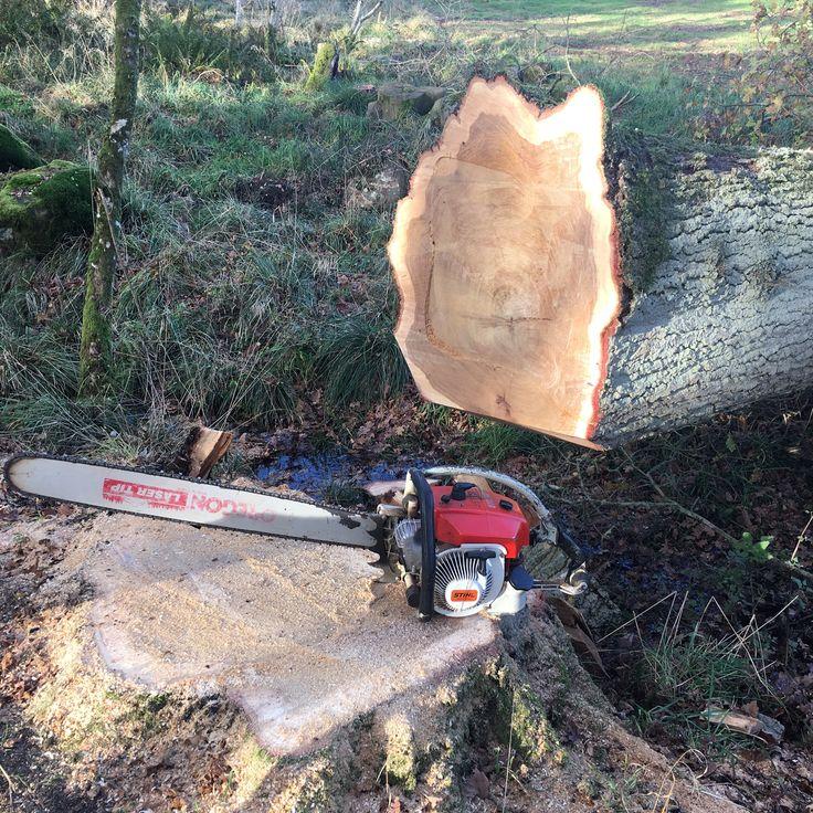 Old school Stihl 070av chainsaw