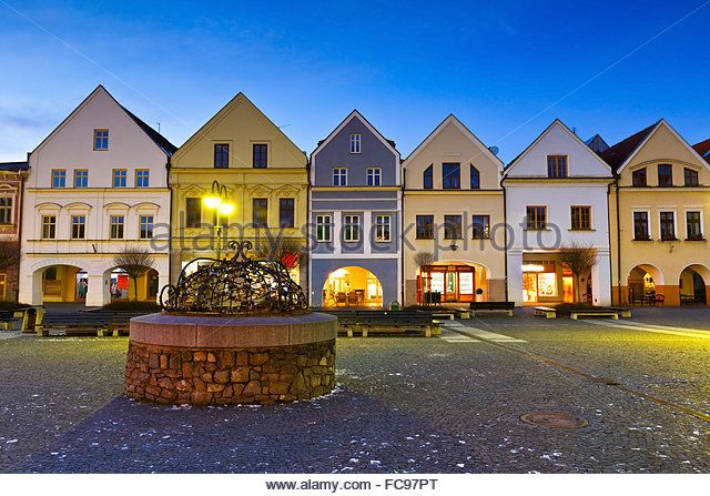 Main square in the city of Zilina in central Slovakia. - Stock Image
