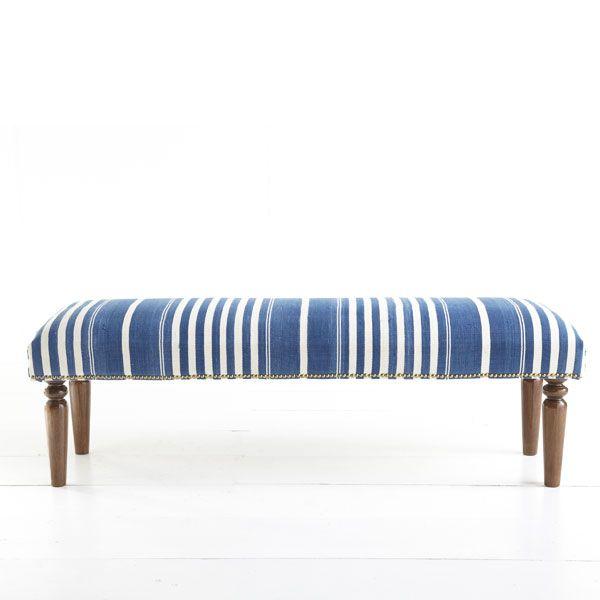 Wisteria Furniture Benches Ottomans Kilim Bench Blue Stripe Thumbnail 2 Di