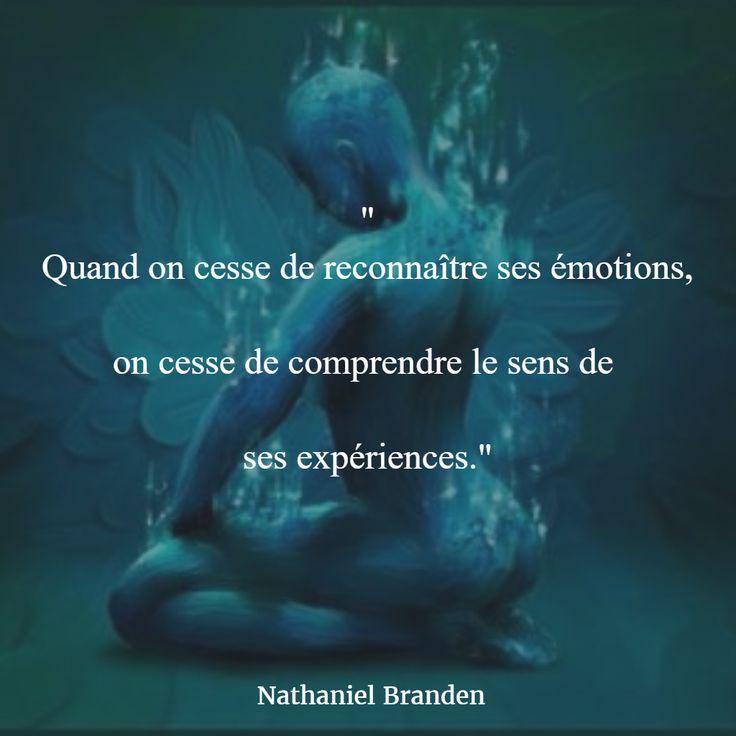 """""""Quand on cesse de reconnaître ses émotions, on cesse de comprendre le sens de…"""