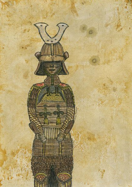 $67.00 - Samurai Armour Art Print.  Also available as poster, canvas, greeting card.