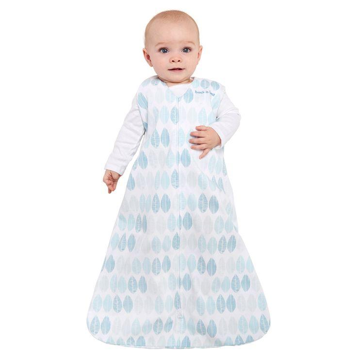 Halo SleepSack 100% Cotton Wearable Blanket - Aqua Fossil - M, Infant Unisex, Blue Pink