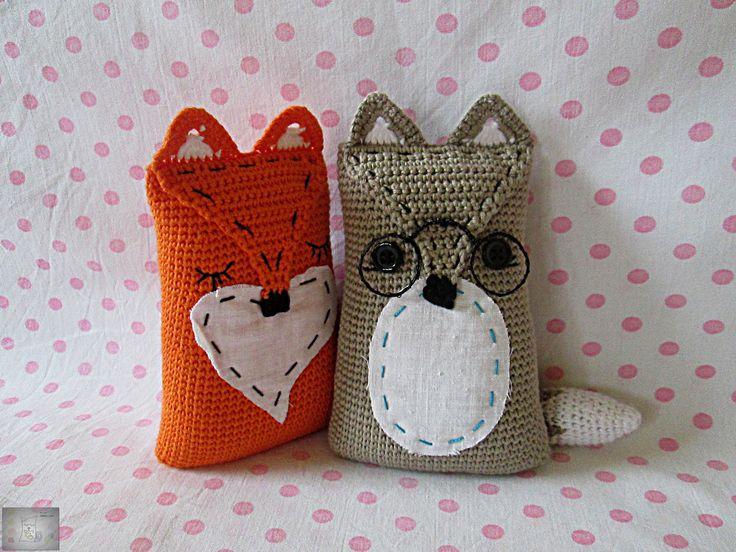 Horgolt zsák-rókák/Crocheted sack-foxes