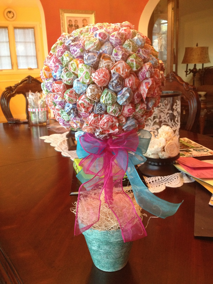 Homemade candy centerpiece abrielle st bday pinterest