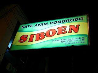 Kuliner Ojek Kilat Malang: Sate Siboen