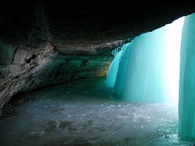 Behind Minnehaha Falls, MN
