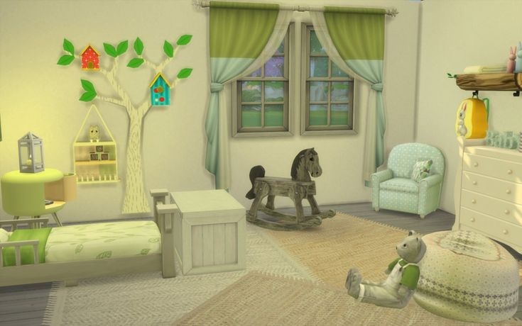 Sims 4 chambre bambin CC toddler bedroom