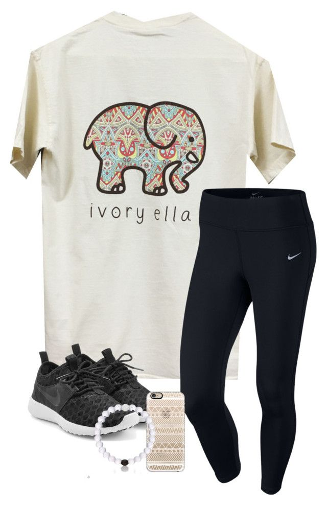 """""""Pretty simple."""" by simply-makayla ❤ liked on Polyvore featuring NIKE and Casetify"""