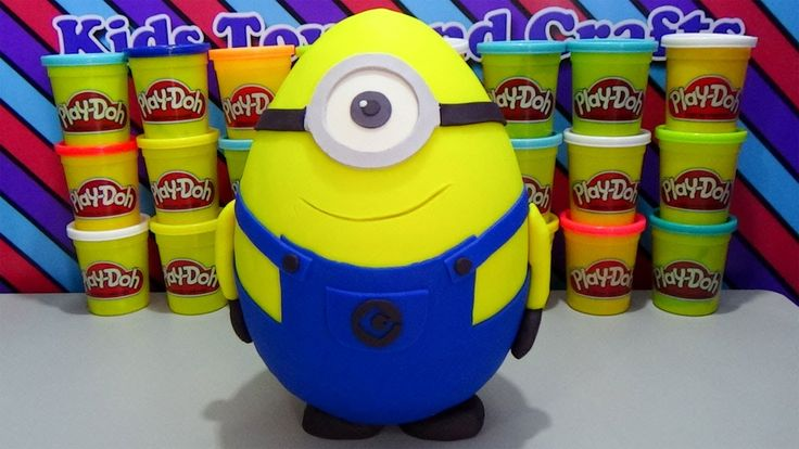 Giant Minion Play Doh Surprise Egg with Minions Surprise Blind Packs Peppa Pig Stamper Set and more