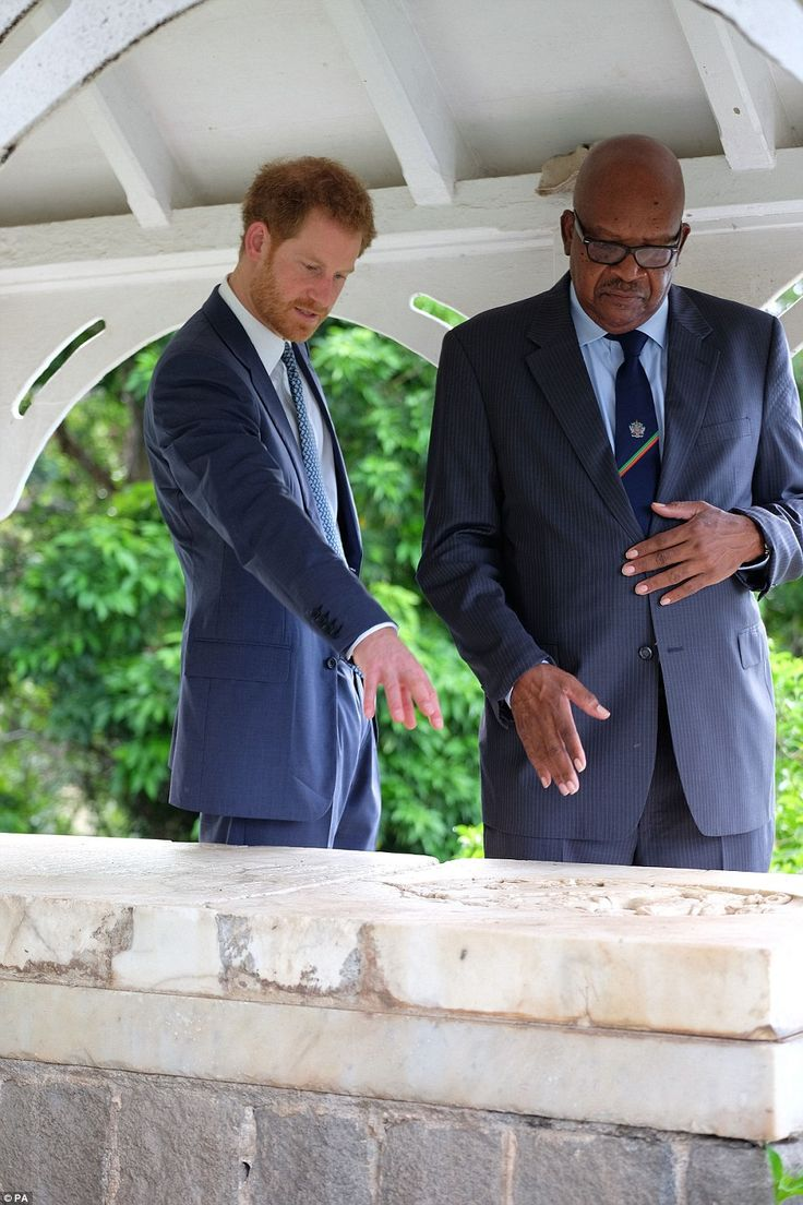 The pair chatted about the history of Port Zante before Harry prepared for a military reception. A British couple who met Harry after their cruise ship docked there said the royal knew exactly what the rugby score was back home