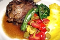 Slow Braised Springbok Shanks with Creamy Parsnip Puree