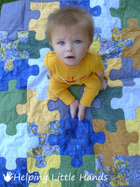 Free Quilt Pattern: Jigsaw Puzzle Quilt - I Sew Free