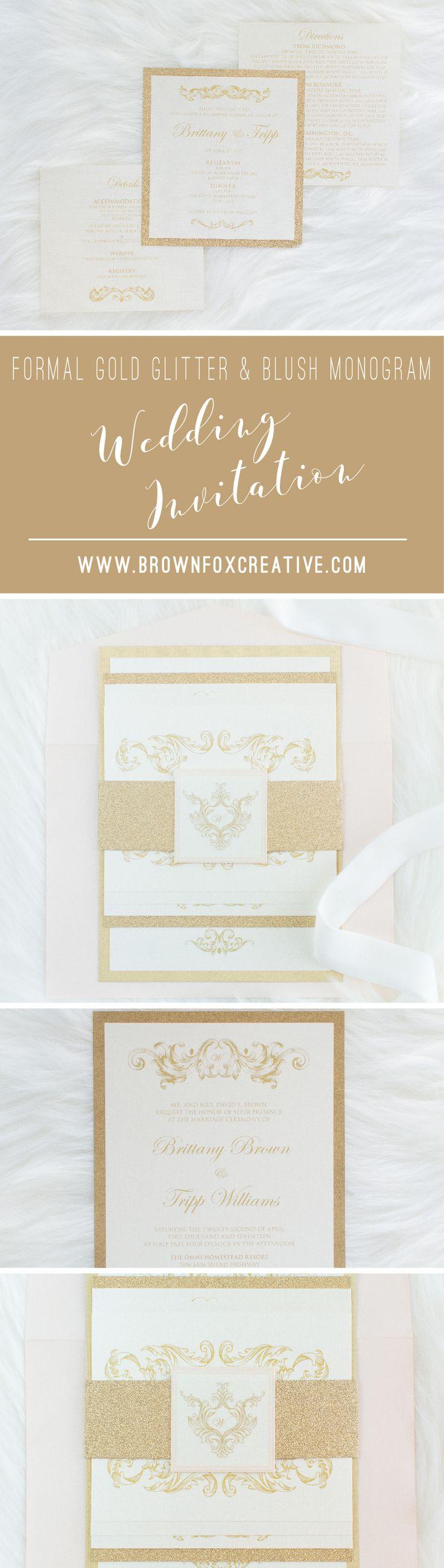 avery address labels wedding invitations%0A Traditional Formal Vintage Gold Glitter and Pink Blush Rose Wedding  Invitation with Enclosure Band  u     Return Address Printing