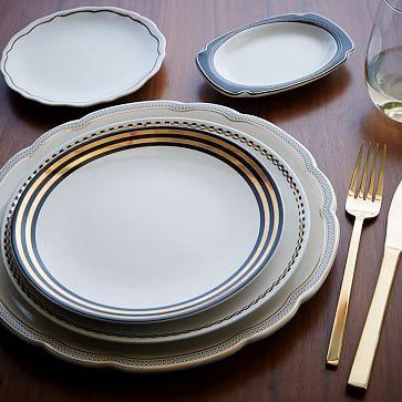 9. side plate black and gold | Fishs Eddy Gilded Dinnerware Set #westelm