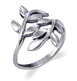 Sterling Silver 23mm Wide Cute Ivy Leaf Design Polished Finish 2mm Wide Band Ring Size 4, 5, 6, 7, 8, 9, 10 $19.99
