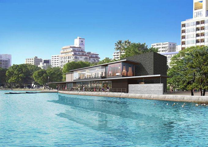 福岡市・大濠公園内に新複合施設「ボートハウス 大濠パーク」カフェ、レストランなど   ニュース - ファッションプレス