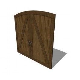 Carriage Style Wooden Garage Door Revit Family